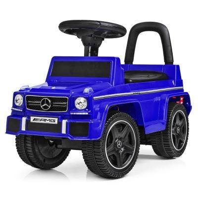 Машинка каталка мерседес дитяча, синього кольору. Фото