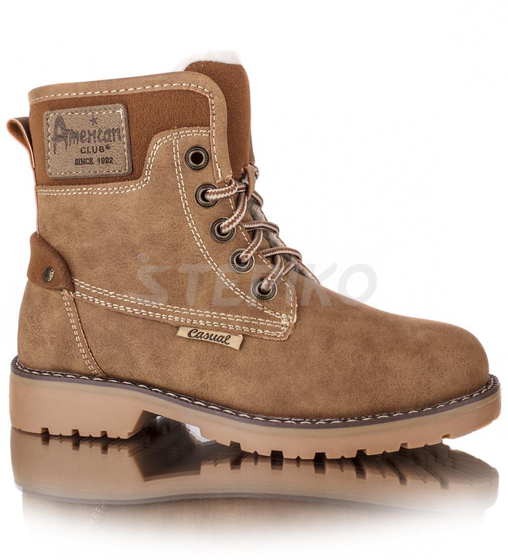 Дитячі зимові черевики American club 1012 17 (темний беж) фото fde28bca75436