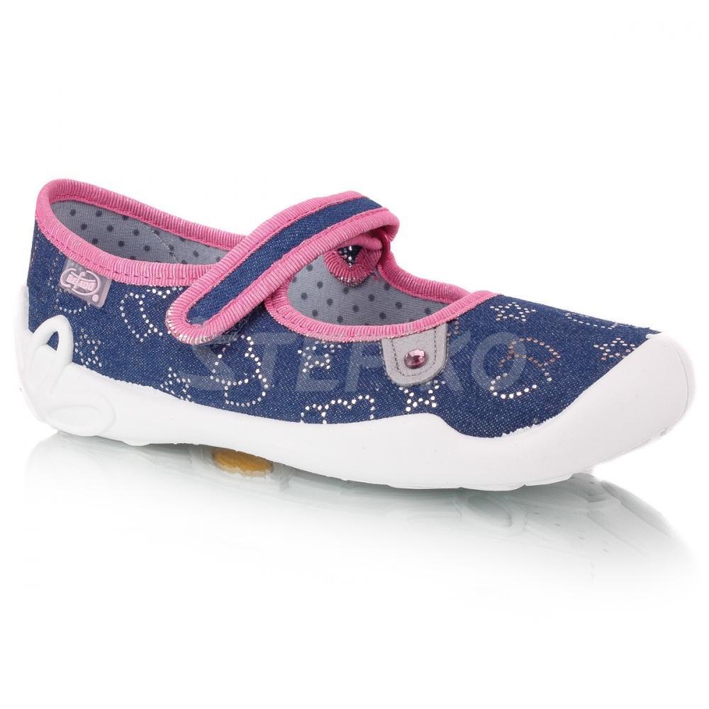 a84ef249c3798e Дитячі текстильне взуття Befado Blanca 114y309 (сердечка та зірочки) фото
