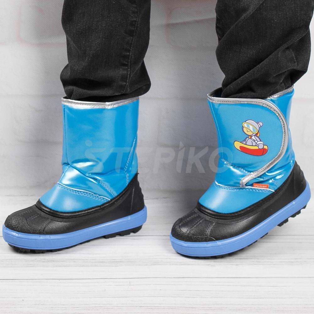 Демар Сноу Бордер синий - фотография на ногах