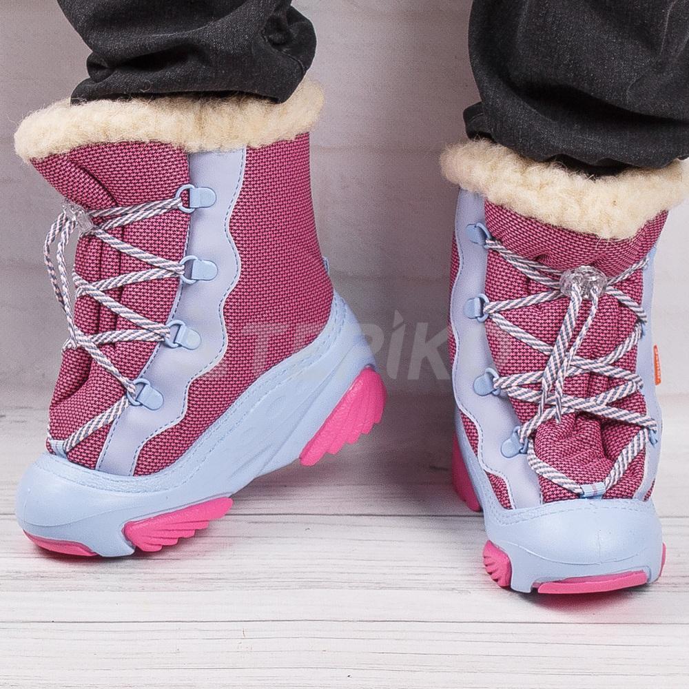 Розові дутики DEMAR Snow Mar A -фото на ногах