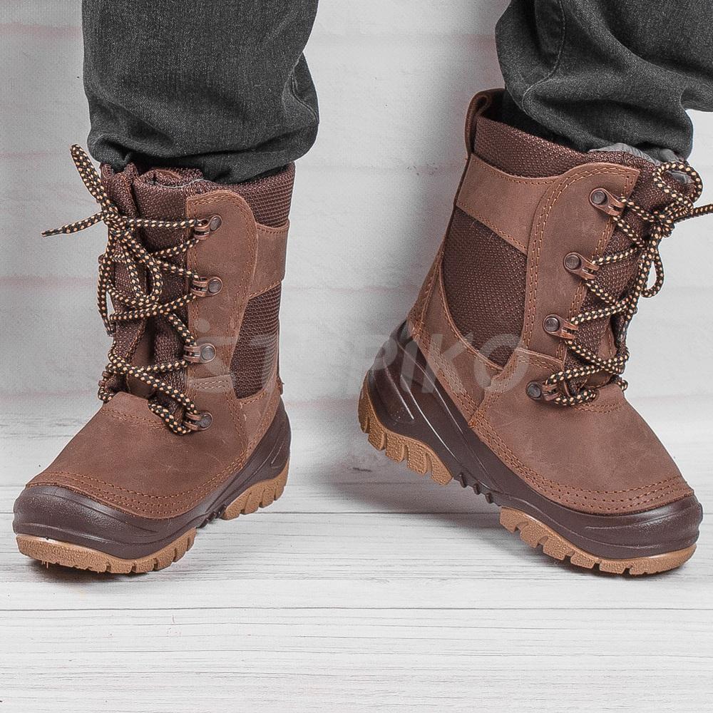 Кожаные сноубутсы Демар Rocky - фото на ногах