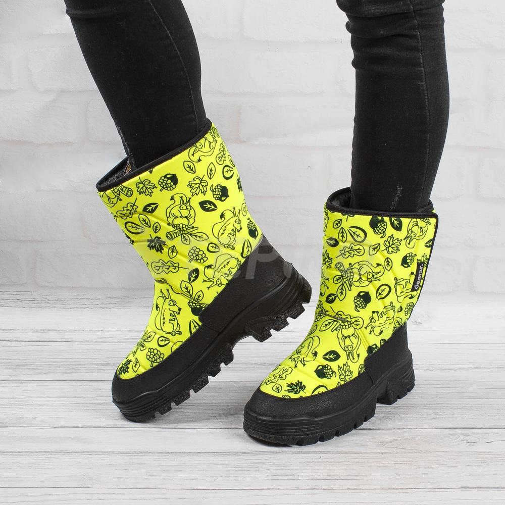 Демар Ханну жовтий принт - фото на ногах