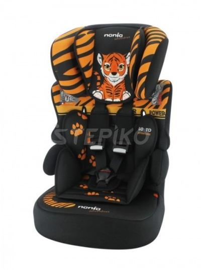 Автокрісло 9-36 кг Nania Beline SP Animals Tiger Black 2020 (тигр)