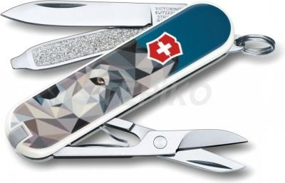 Швейцарский нож Victorinox Classic Limited Edition The Wolf Is Coming Home 0.6223.L1704 Разноцветный (2217779)